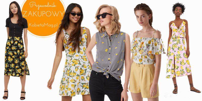 ubrania w cytryny