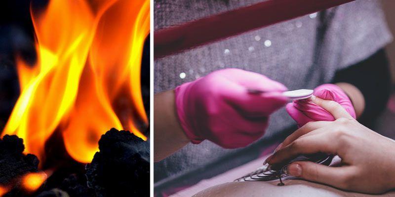 paznokcie z płomieniami