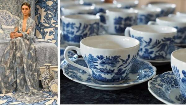 Ubrania w porcelanowy wzór o biało-niebieskiej kolorystyce – nowy hit tego lata!