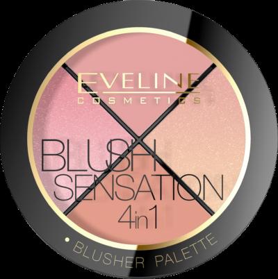 Eveline makijaż z czerwienią