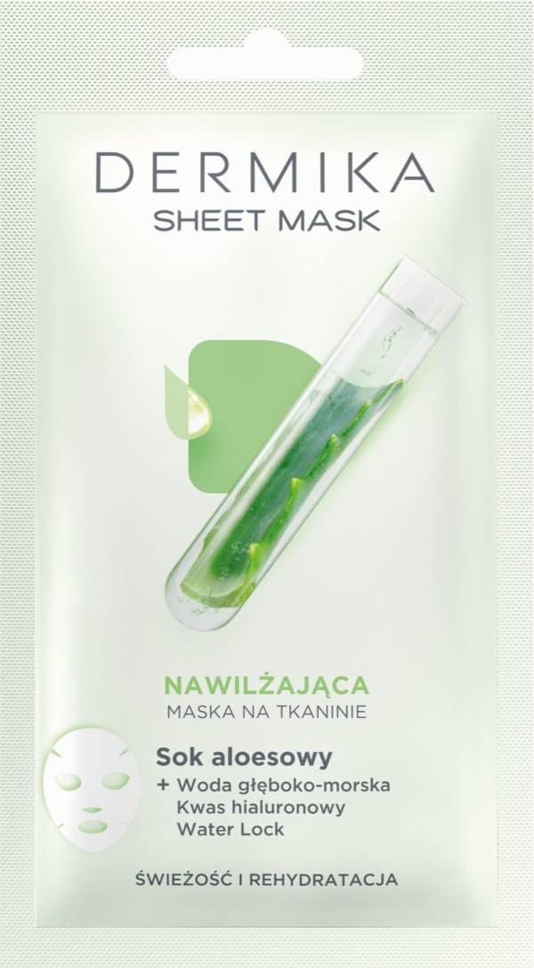 hydrolatowe maski w tkaninie Dermika