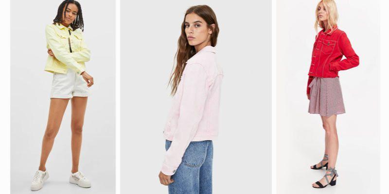 kolorowe dżinsowe kurtki