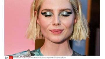 Make up inspirowany homarami, weneckimi maskami i policyjną taśmą? Prześwietlamy szalone makijażowe inspiracje Lucy Boynton!