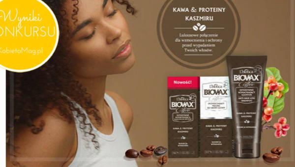 Wyniki konkursu Szczypta luksusu dla Twoich włosów z kosmetykami Biovax Coffee!