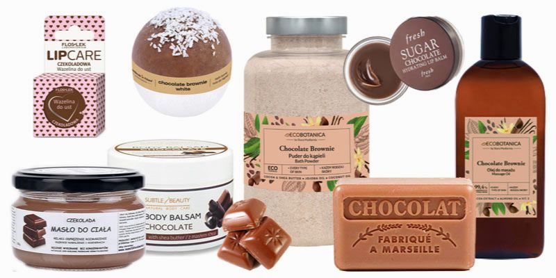 czekoladowe kosmetyki