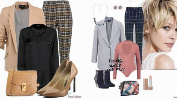 Eleganckie stylizacje ze spodniami w kratkę ubranymi w jesienne odcienie