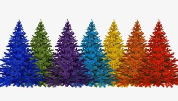 Amazon sprzedaje tęczowe choinki – drzewka tak barwne, że nie trzeba ich nawet ubierać!
