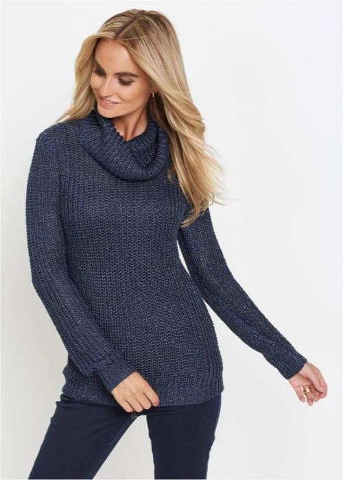 Ciemnoniebieski sweter