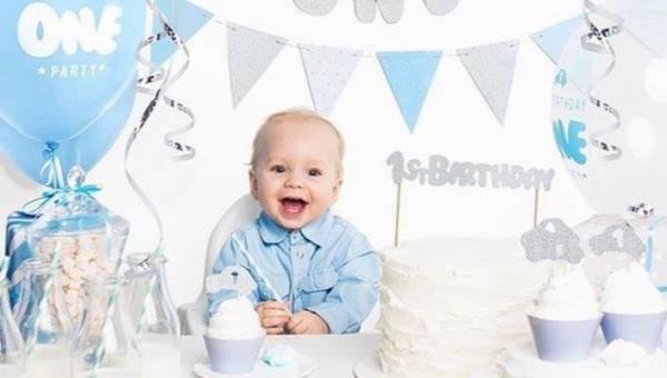 Urodzinowe balony dla rocznego dziecka