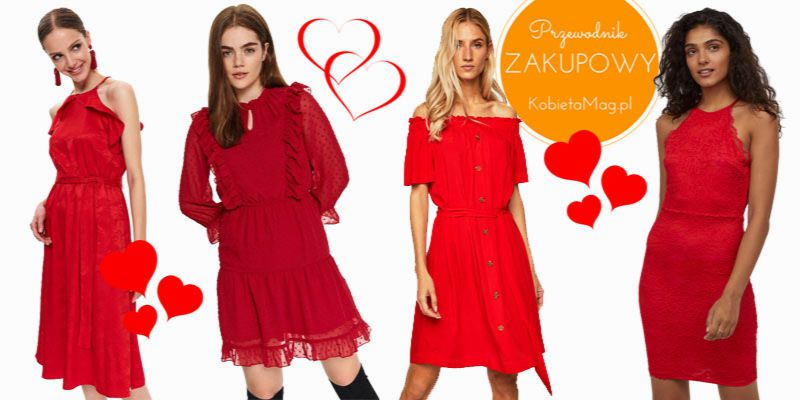 czerwone sukienki na Walentynki