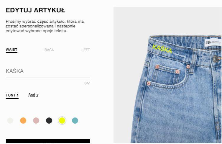 personalizacja ubrań