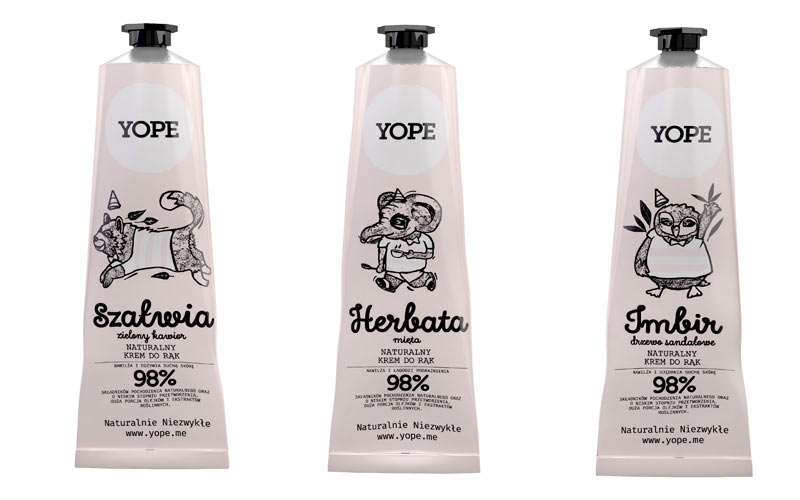 balsamy do rąk yope