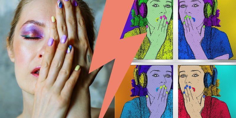 paznokcie pop art