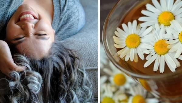 Naturalne sposoby na siwe włosy – 3 domowe płukanki i odpowiednie suplementy